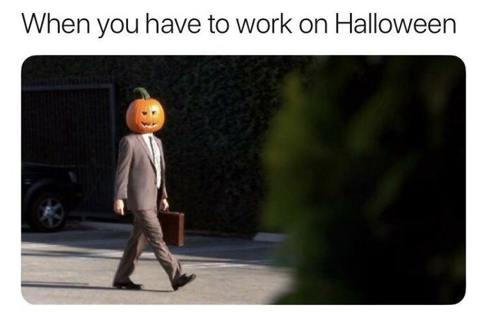Have To Work On Halloweenhttp Bit Ly 2wttjv Dog Funny Hilarious Funny Halloween Memes Halloween Jokes Halloween Memes