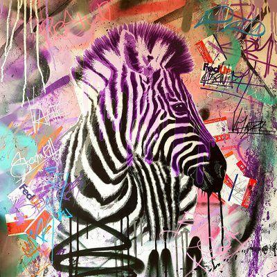 Urban Safari Zebra / Purple