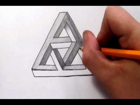 How To Draw The Impossible Penrose Rectangle   Cool Optical Illusion    YouTube