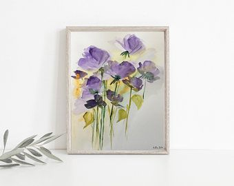 ORIGINAL AQUARELL Aquarellmalerei Bild Wiesenblumen abstrakt Blumen Art Watercolor Flowers abstract - Artikel bearbeiten - Etsy