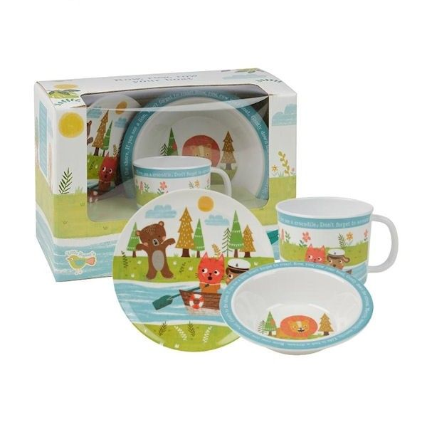Make Mealtimes Enjoyable With Our Adorable Row Your Boat Melamine Gift Set Made From Durable Melamin Melamine Dinner Set Tableware Design Cup Design