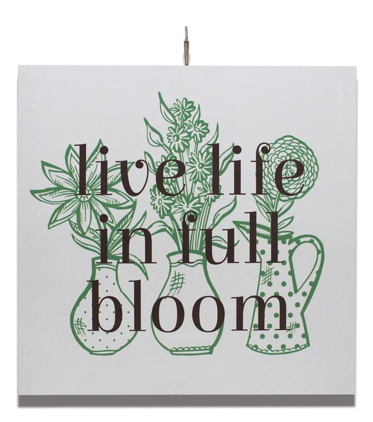 in the garden wall decor live life in full bloom home