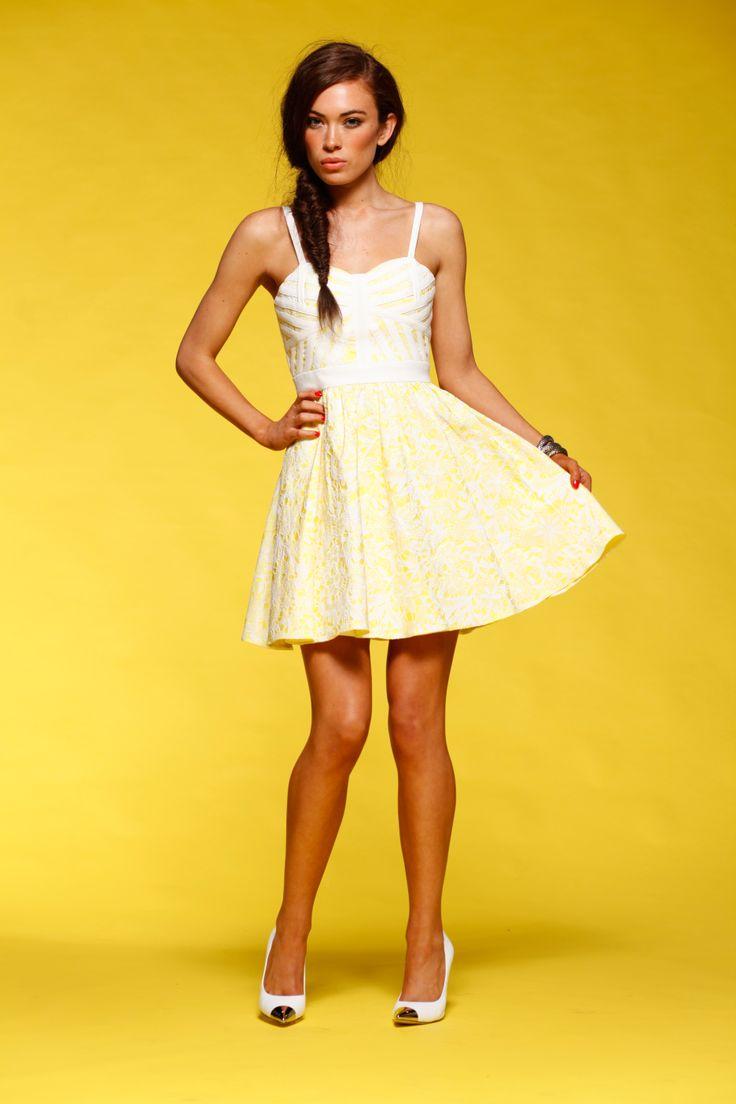 Honey & Beau - Electric Bloom Dress in Print HD55103
