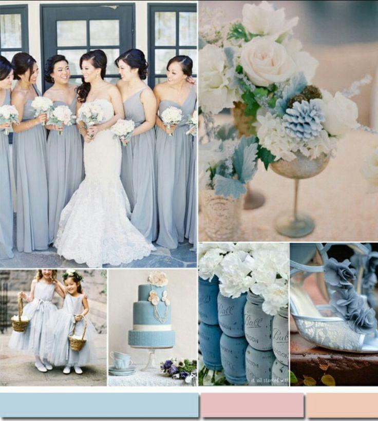 Silver wedding colour themes