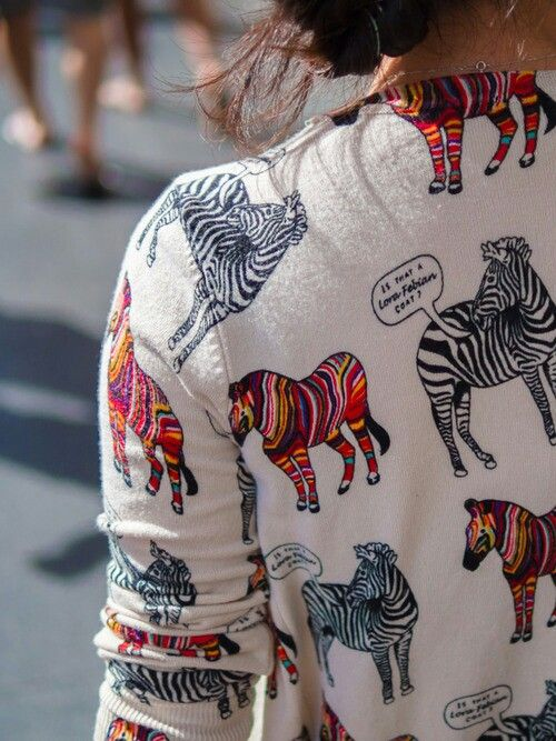 Colourful zebras print. #style, #fashion, #women's fashion