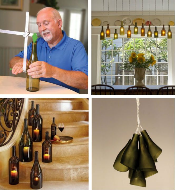 Turn old glass bottles and jars into glass sculptures, vases, lamps shades, votive holder or fashion anything you can imagine.