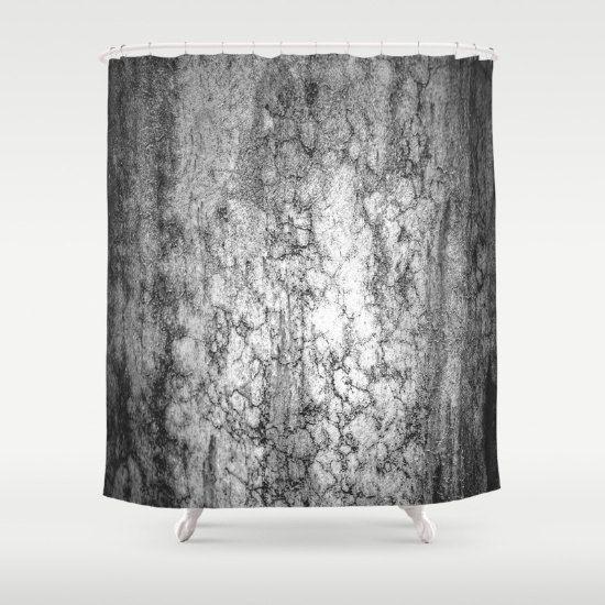 Marmor grau Duschvorhang Marmor Textur elegantes von RobinWrenDecor