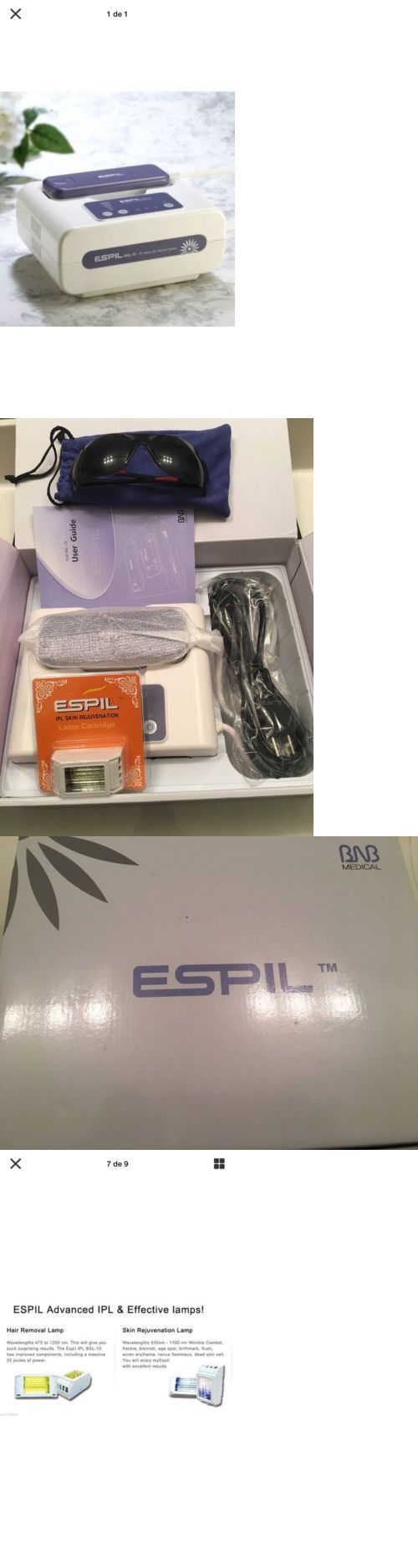 Laser Hair Removal and IPL: Espil Ipl Laser Hair Removal At Home + 1 More Skin Rejuvenation Lamp BUY IT NOW ONLY: $149.99