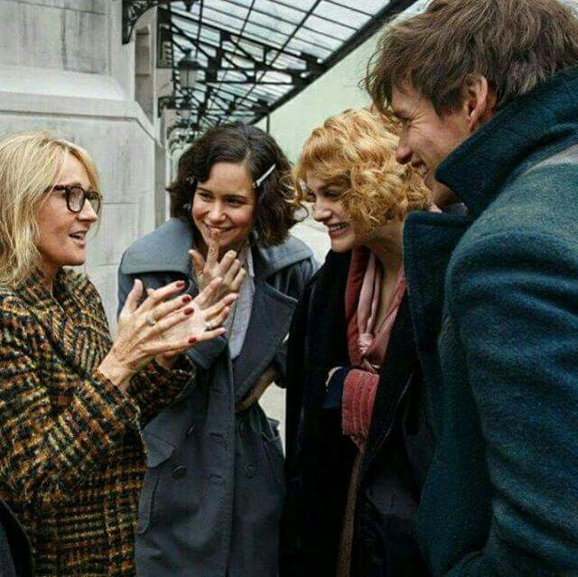 J.K. Rowling on set of film, Fantastic Beasts and Where To Find Them.