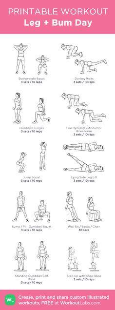 Leg + Bum Day Workout