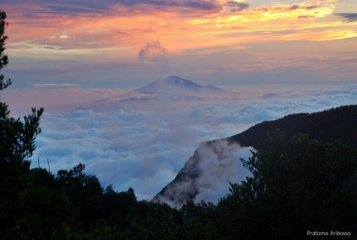 Sunrise from mount Papandayan, Indonesia