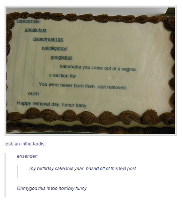 "A Tumblr's ""special"" birthday cake // tags: funny pictures - funny photos - funny images - funny pics - funny quotes - #lol #humor #funnypictures"