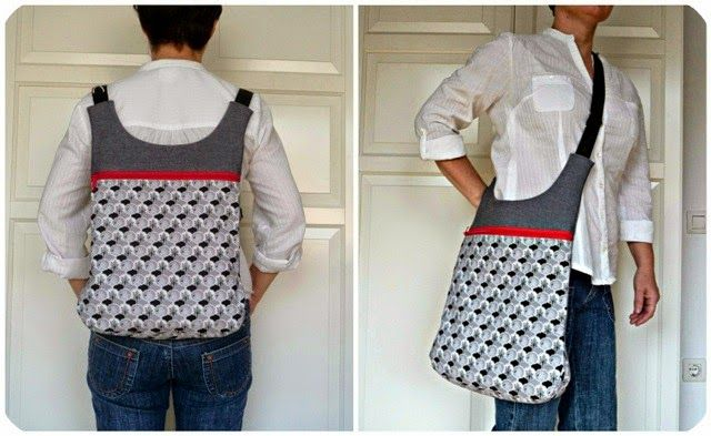 Bolso convertible en mochila Bossa convertible en motxilla bag+backpack