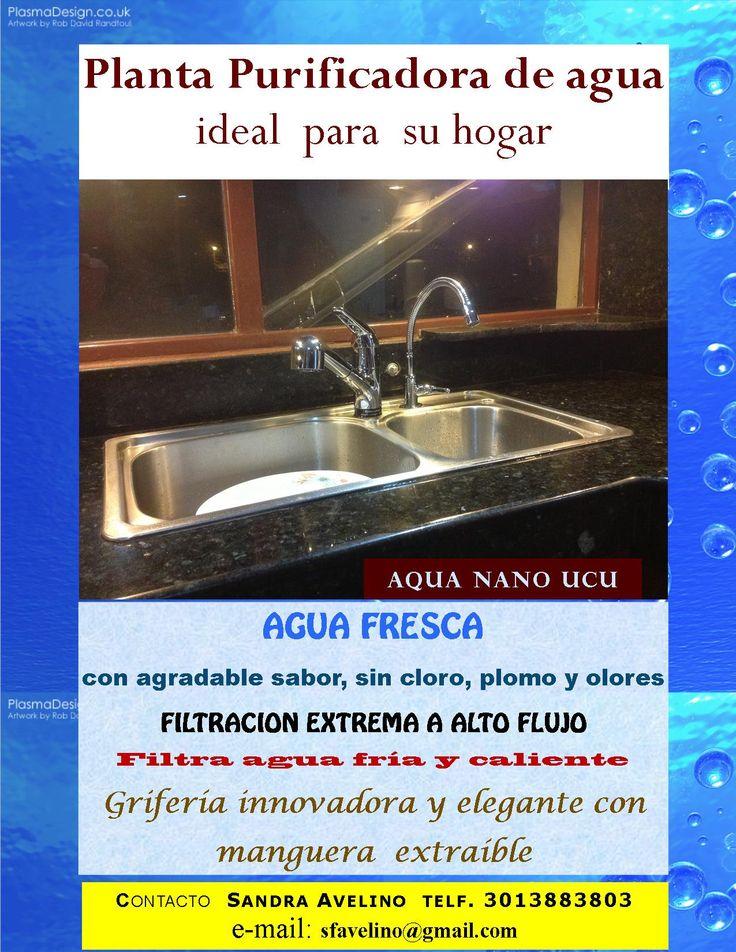 Agua pura no debe faltar nunca en casa