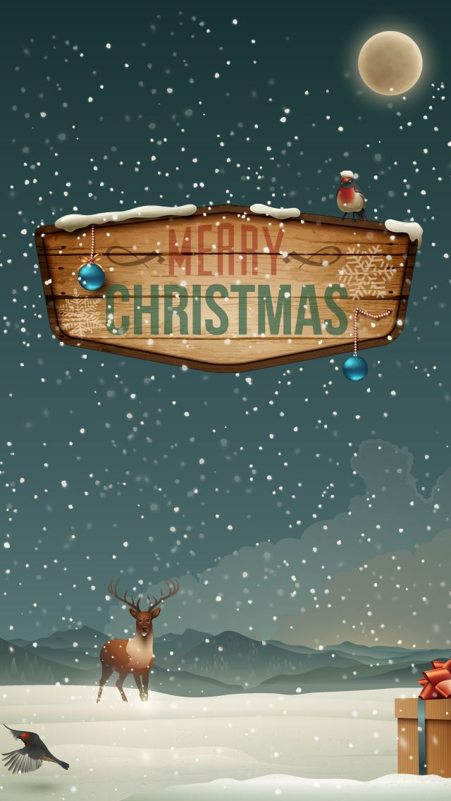 Iphone wallpapers games apps ringtones themes: Merry Christmas and Happy new year 2013 - iphone 5 640x1136 wallpapers