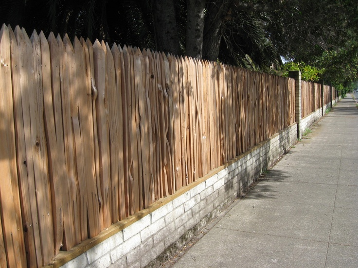 Grape Stake Fence Solid Wood Fences Pinterest Fence
