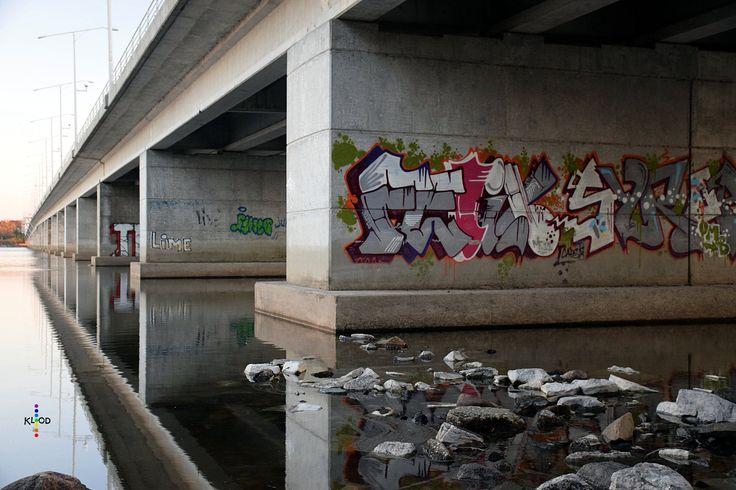 https://flic.kr/p/APNfUk | Alternative Perspective on the Champlain Bridge | An alternative view of the Champlain Bridge between Ottawa and Gatineau.