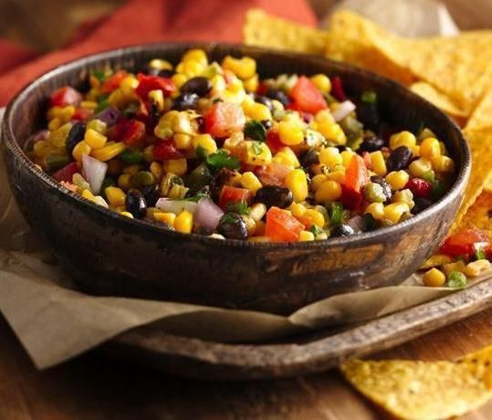 Green Giant Steamers sweet corn and canned black beans make this homemade salsa so easy! Use it to dip tortilla chips, or as a topping for nachos, tacos, enchiladas, burritos, or even grilled fish, pork or chicken.