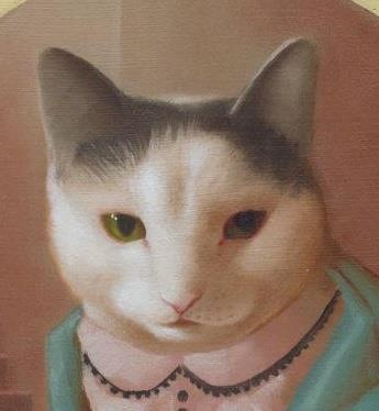 By Aniela Sobieski - My cat Lily - this painting belongs to me now :-)