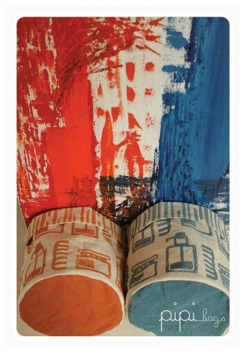 Colores fuertes. Arte + PIPIbags.