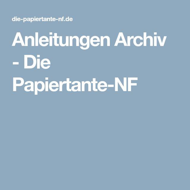 Anleitungen Archiv - Die Papiertante-NF