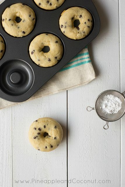 Gluten Free Vanilla Doughnuts with Mini Chocolate Chips