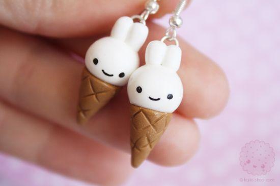 Bunny ice cream :D                                                                                                                                                      More