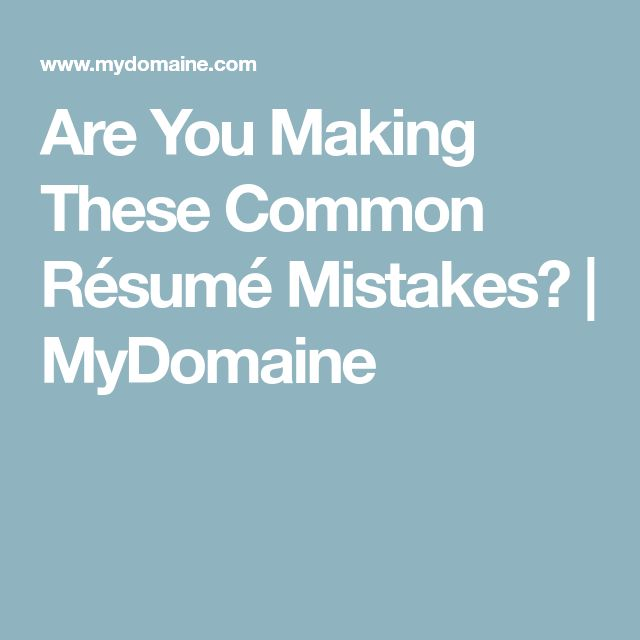 94 best CultiVitae Career Advice images on Pinterest Career - resume mistakes