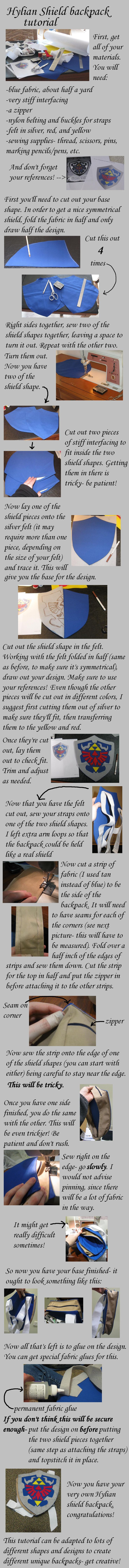 Zelda shield backpack tutorial by =Animus-Panthera on deviantART