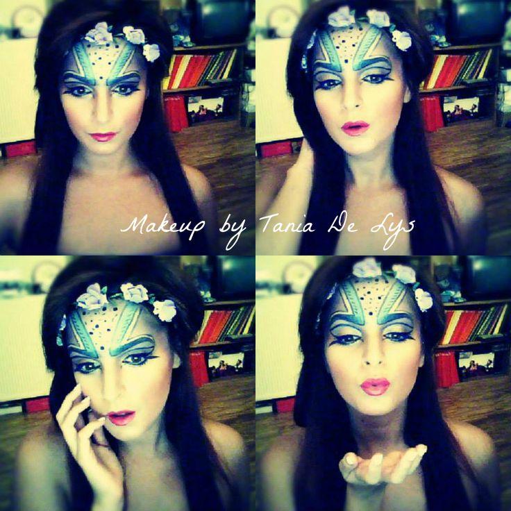 Alien princess makeup