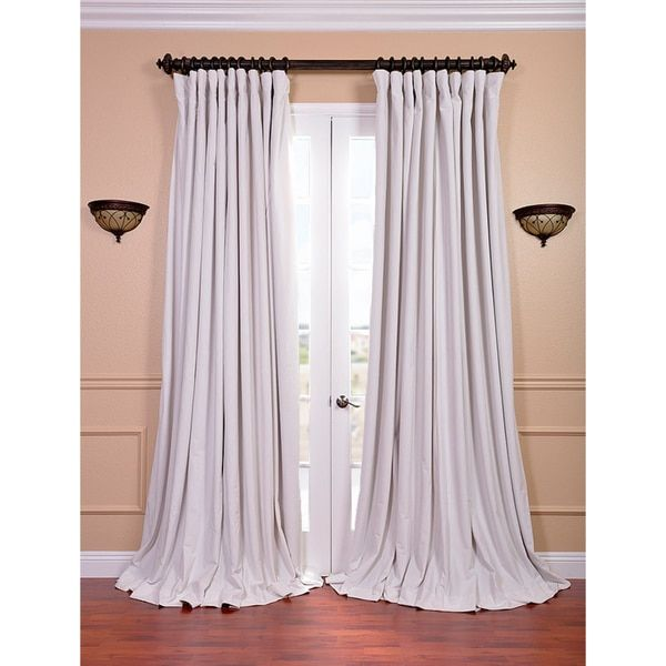 Exclusive Fabrics Off White Velvet Blackout Extra Wide Curtain Panel | Overstock.com Shopping - The Best Deals on Curtains