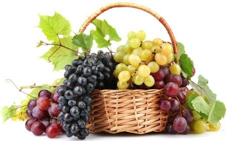 Grapes and raisins; For gastritis, acidity, oral thrush, mouth blisters – Soak five almonds and raisins in water at night. Next morning, eat the raisin and almonds on empty stomach. Make sure that raisins are sweet in taste. Sweet Grapes are generally indicated in Daha (  burning sensation, as in gastritis, neuropathy, burning sensation in eyes), Moha (delusion, dizziness) etc.