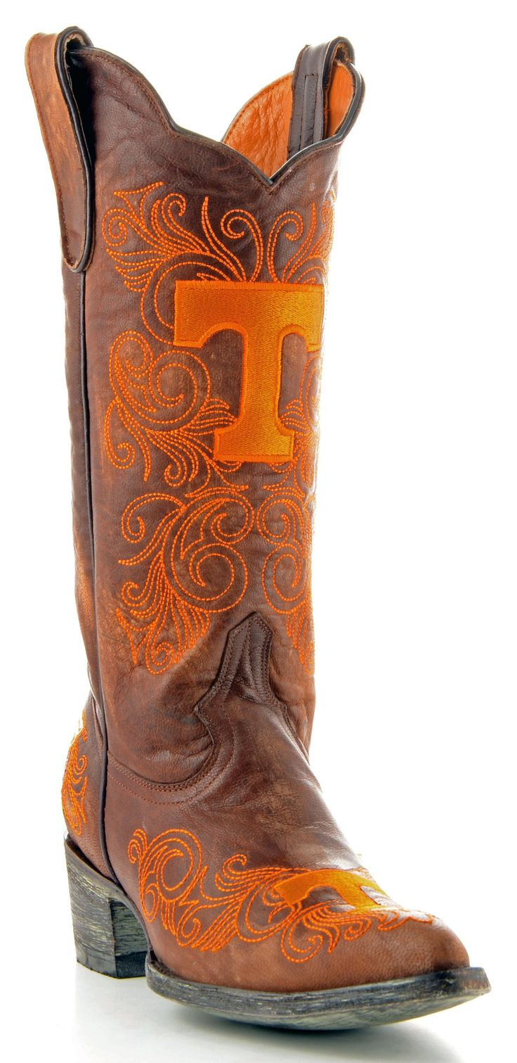 Gameday U Of Tennessee Ladies Leather Boots TEN-L039-1 - Brass