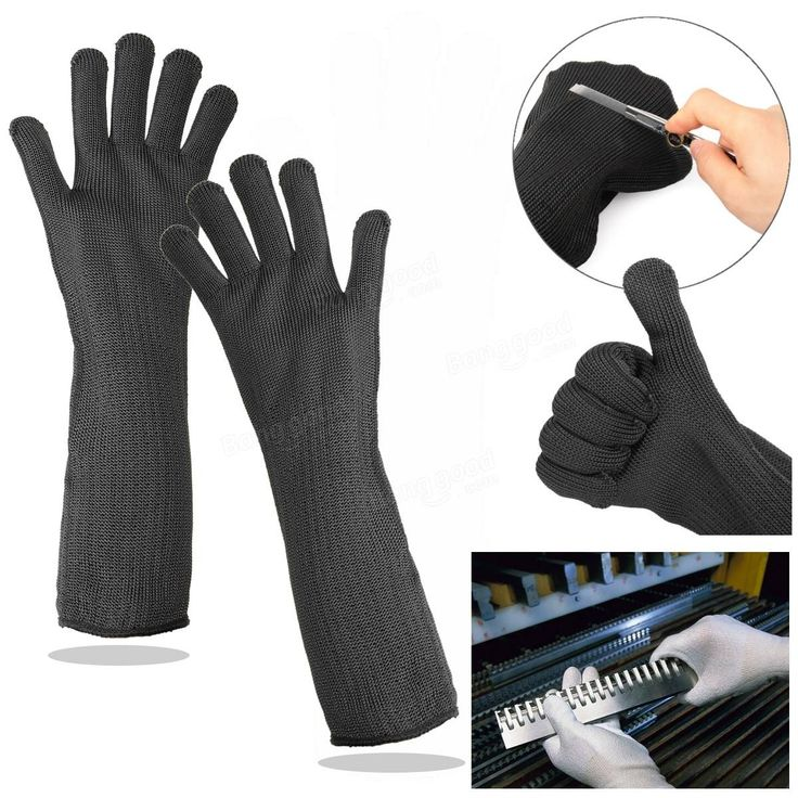 Stainless Steel Wire Safety Sport Cut-resistant Sleeve Work Gloves Wrist Armband Protector Gloves Sale - Banggood.com