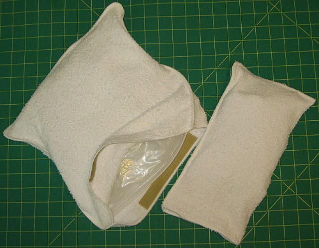 how to make an ice pack cover