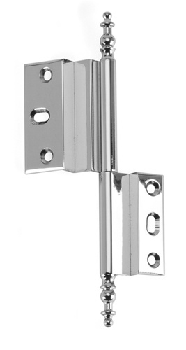 Aho Pc Left Offset Armoire Hinge In Polished Chrome Walk