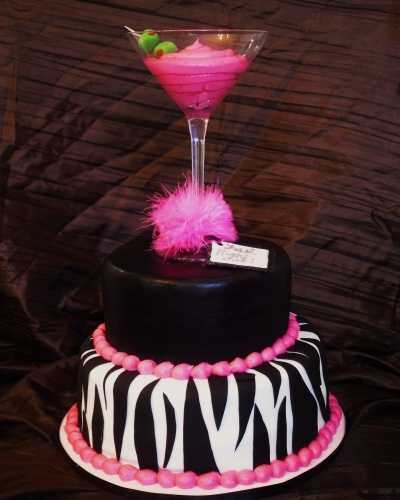 Bachelorette Martini Cake By KristiBaez on CakeCentral.com