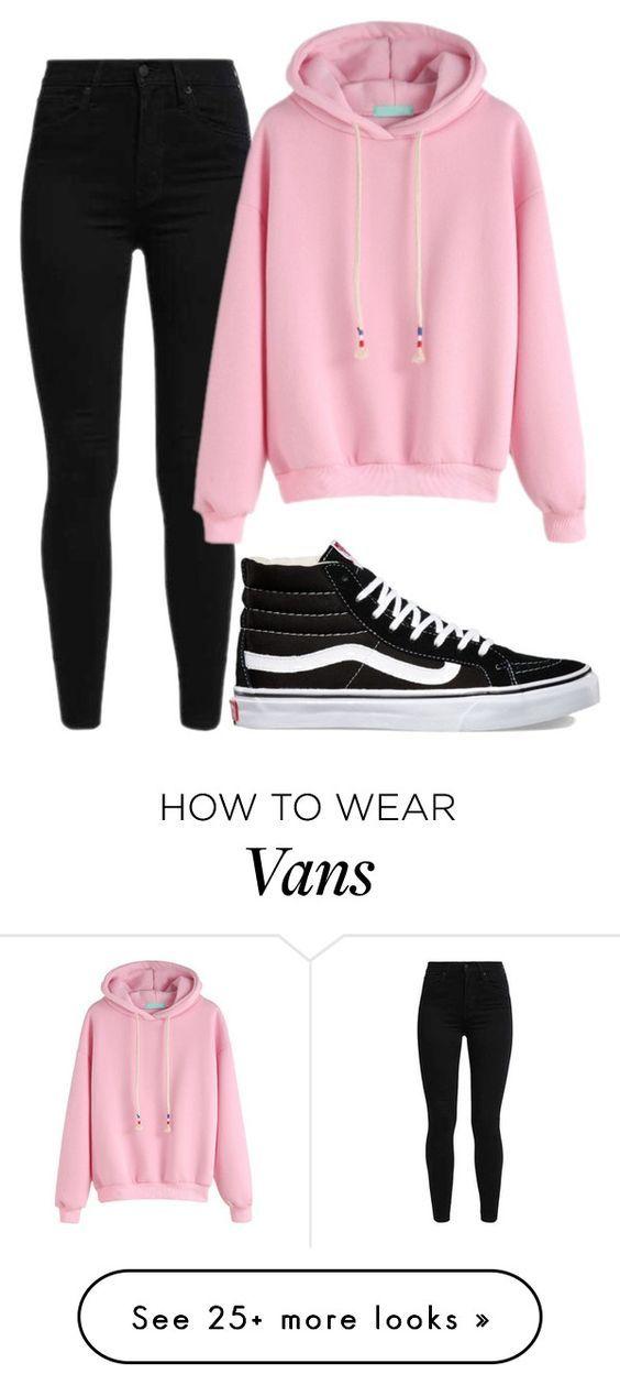 Vans hoodie for girls pink