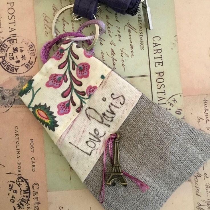 Love Paris Key Charm - Bag Charm - Bag Accessory - Gift for Traveller - Australian Seller by Garnetfleuri on Etsy