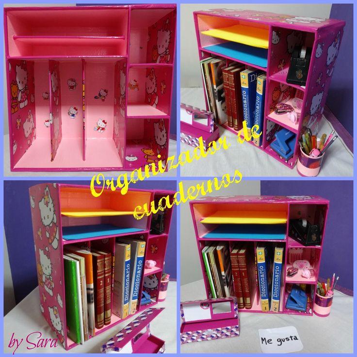 organizador de cuadernos o libros