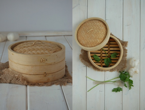 Bambou basket - steam-cooking