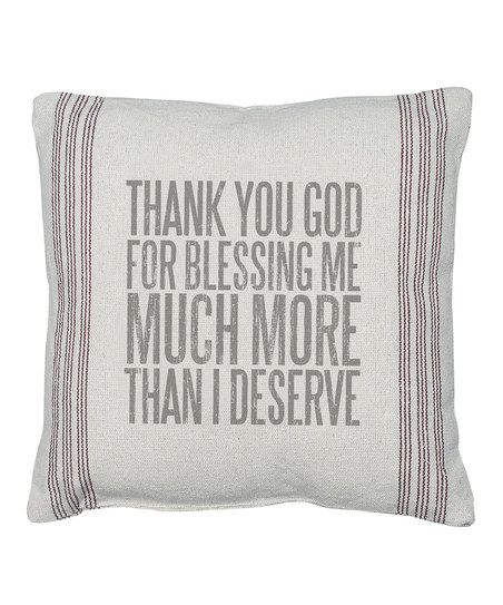 Off-White 'Thank You God For Blessing Me' Pillow