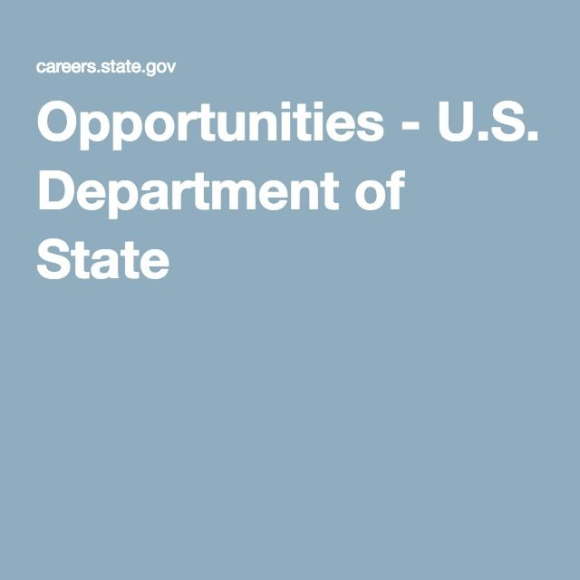 Opportunities - U.S. Department of State