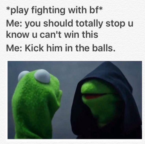 Play fighting dirty #funnyKermit evil Kermit
