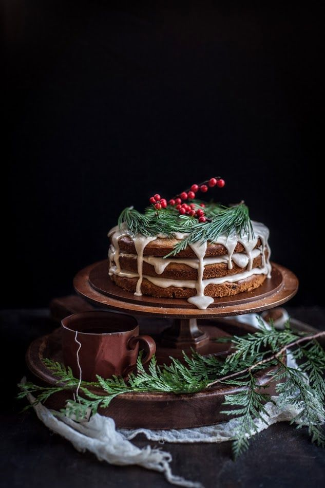 A Christmas Cake | Date & Honey Cake With A Cinnamon Orange Glaze