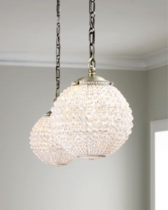 A Few Over The Kitchen Island? Mini Crystal Ball Pendant At Horchow.