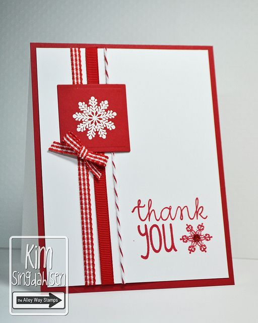 Thank You Snowflakes by atsamom, Love this simple card, honestly I may just love it for the snowflakes, but what can I say?