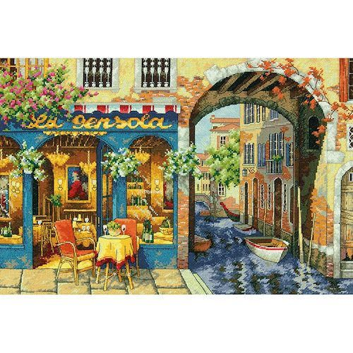 Cross Stitch Kit Charming Waterway by Dimensions, Embroidery Kit, Dimensions Gold Collection by NeedleAndCrafts on Etsy