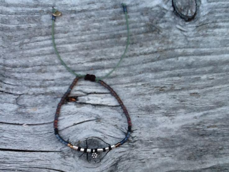 Sterling silver bracelet handmade by D-Zijns with Miyuki  beads €29,50