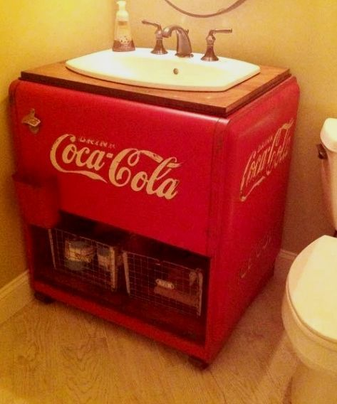Coca Cola Bathroom Decor.Bathroom Decor Guide Using Stuff That Have Dual Purposes May Help